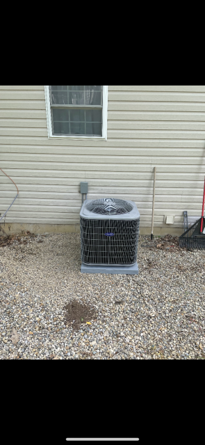 Thornville, OH - I completed a diagnostic and found the unit is low on charge due to a leak. I found that the evaporator coil is leaking and needs replaced. I gave the customer an estimate on the cost of repair. I recommend replacing the unit.