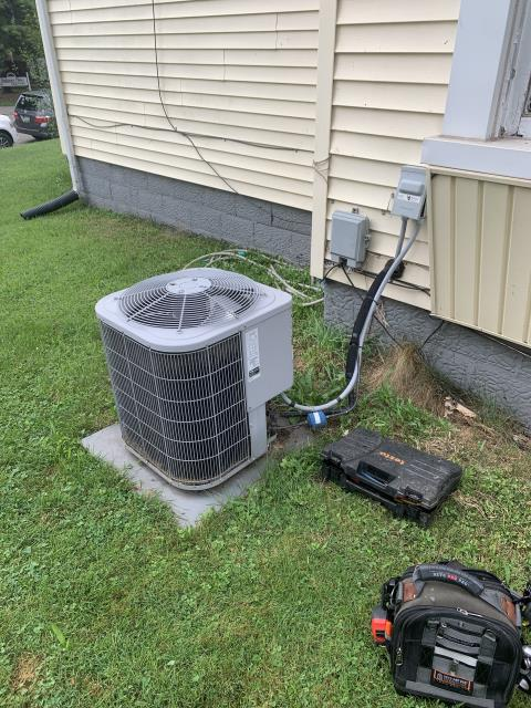 Newark, OH - I completed a diagnostic and found capacitor bad on outdoor unit. I replaced the capacitor and cleaned the unit well. AC cooling upon departure.