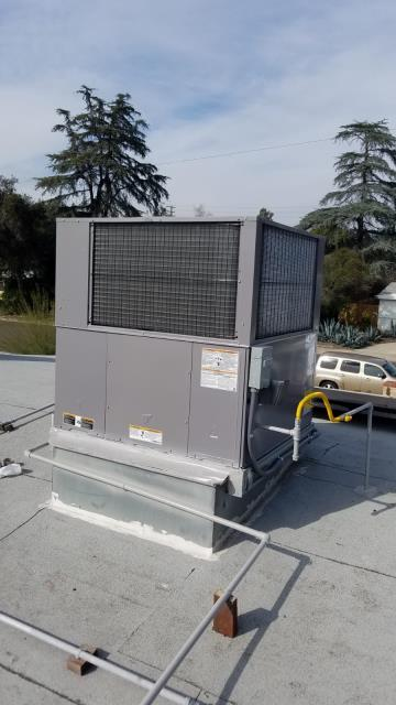 Claremont, CA - Replaced a Rooftop Package Unit in the city of Claremont, CA.
