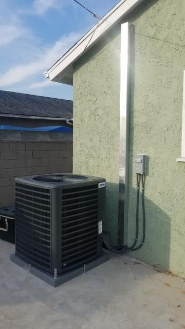 Inglewood, CA - Installed new condenser, coil and furncace in the city of Inglewood, CA.