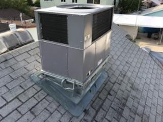 Maywood, CA - Replaced roof condenser and Repaired Roofing on the Kennish home in the city of Maywood, CA.