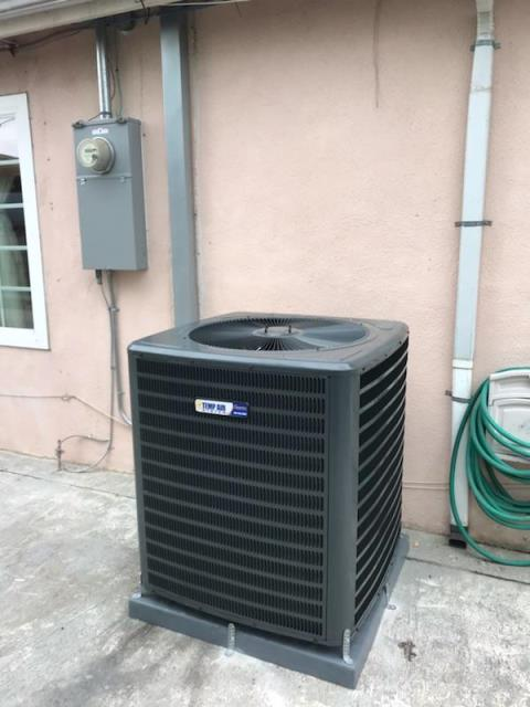 El Monte, CA - Replaced the condenser, coil, and the furnace. We also upgraded the electric panel and the Thermostat at the Medina home in the city of El Monte, CA.