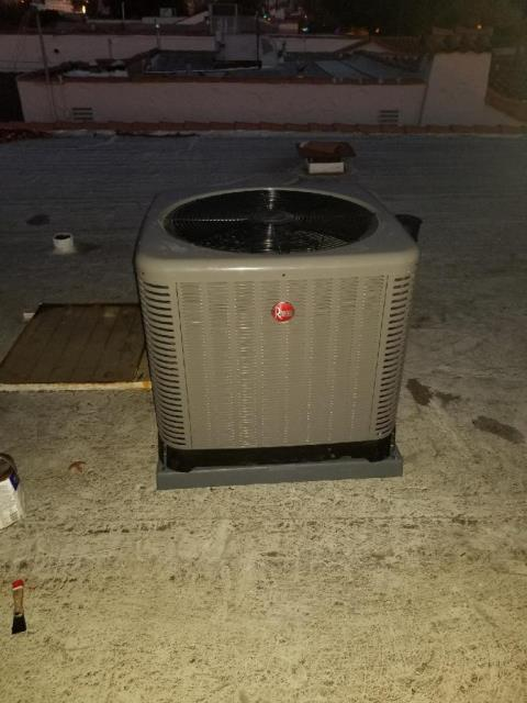 Alhambra, CA - Replaced the condenser on the rooftop, also replaced the coil, and the furnace in the city of Alhambra, CA.