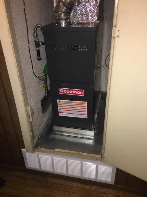 La Puente, CA - Replaced the Furnace, and installed a new Digital Themostat in the city of La Puente, CA.