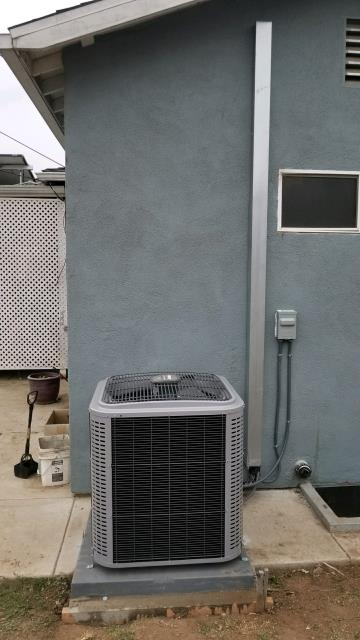 Inglewood, CA - We in stalled a new system which includes the condenser, coil, and the furnace in the city of Inglewood, CA.