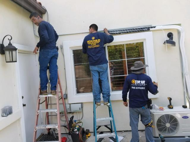 Anaheim, CA - Replaced the condenser, coil, and the furnace. We also installed a new Mini Split in the Mendoza home in the city of Anaheim, CA.