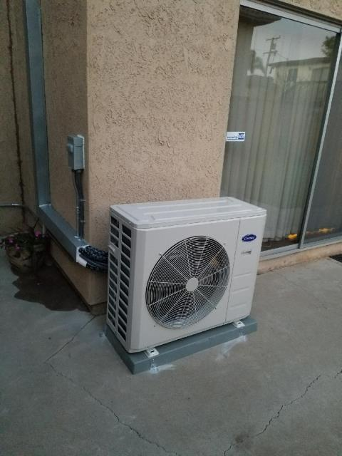 Redondo Beach, CA - Installed a Mini Split. Also we replaced the Gas Furnace, and upgraded the Thermostat in the city of Redondo Beach, CA.