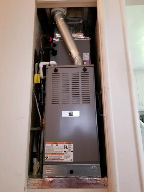 Glendora, CA - Replaced a gas Furnace in the city of Glendora, CA.