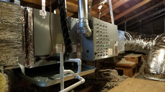 Bellflower, CA - Removed wall furnace. And installed new gas furnace in attic located in the city of Bellflower, CA.
