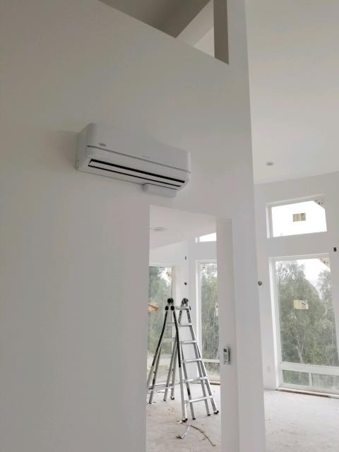 Installed 25 Mini Splits in this new built home located in the city of Santa Ana, CA.