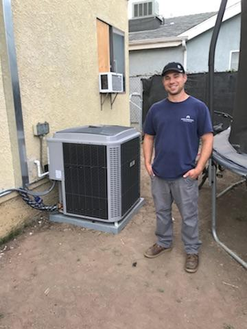 Torrance, CA - Replaced the condenser, coil, and the furnace in Satisfied Romanyuk home in the city of Torrance, CA.