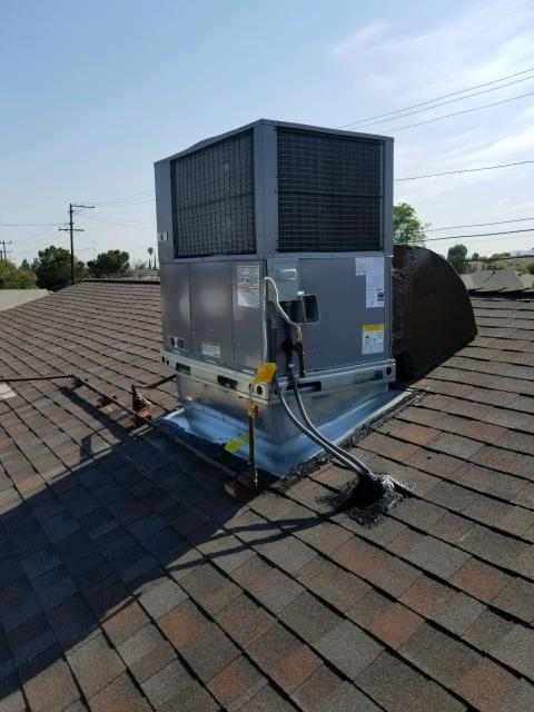 Colton, CA - Replaced Package unit on rooftop in the city of Colton, CA.