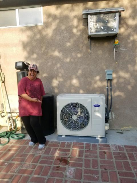 Baldwin Park, CA - Installed a Mini Split in the happy Greer Home located in the city of Baldwin Park, CA.