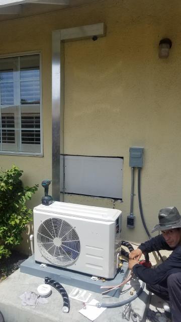 Covina, CA - Installing a Mini Split system in the city of Covina, CA.