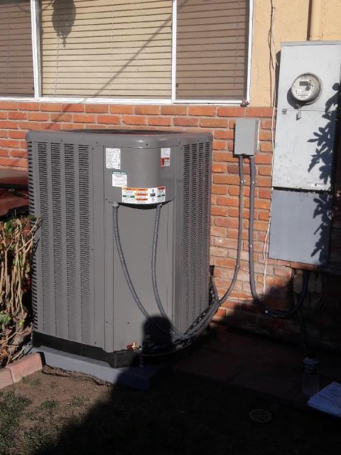 Burbank, CA - Replaced the condenser, coil, and the furnace in the city of Burbank, CA.