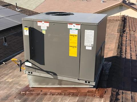 Lancaster, CA - Installed a Package Unit sytem on rooftop in the city of Lancaster, CA.