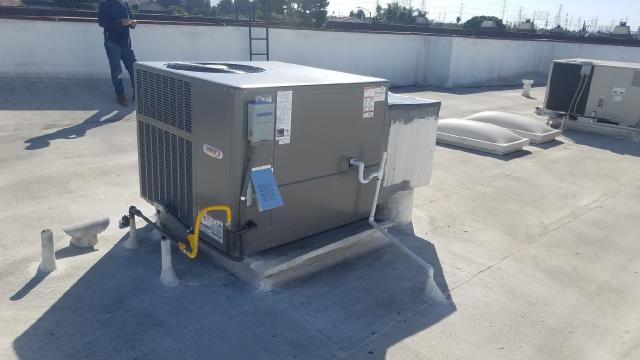 Torrance, CA - Replaced A Package Unit on rooftop in thr city of Torrance, CA.