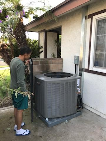 Carson, CA - Replaced Condenser, Coil, And Furnace in the city of Carson, CA.