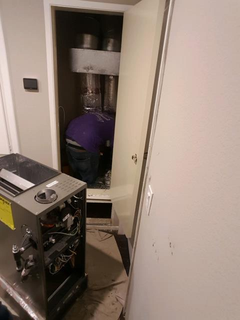 Redondo Beach, CA - Replaced a furnace in the city of North Redondo, CA.