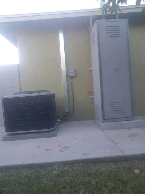 La Puente, CA - Replaced the Condenser, Coil, and Furnace. Also upgraded the elctric panel in the city of La Puente, CA.