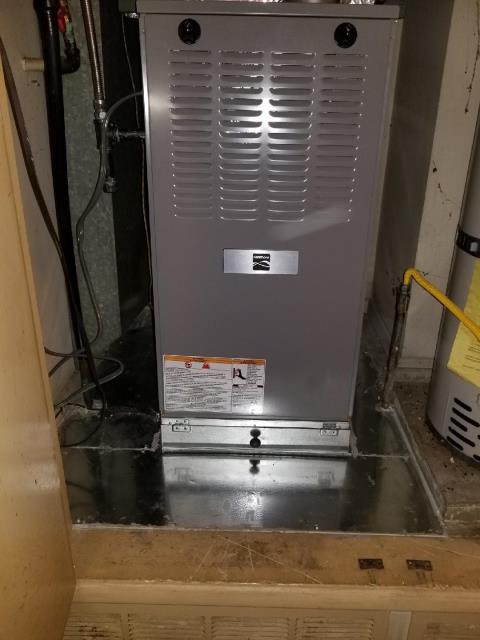 Fullerton, CA - Replaced a gas furnace in the city of Fullerton, CA.