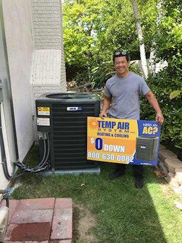 Garden Grove, CA - Happy to serve the Banechit Family with a new condenser installation and a furnace replacement in the city of Garden Grove