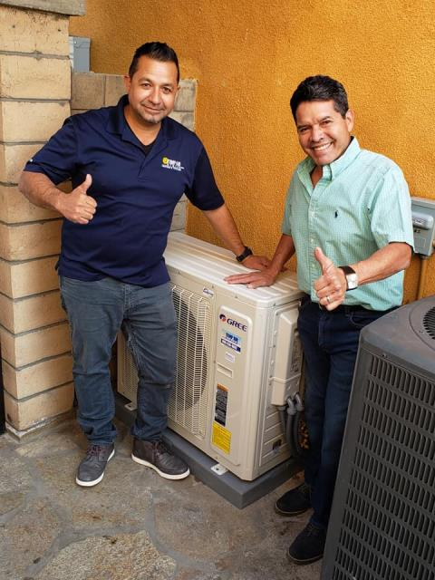West Covina, CA - Installed a mini split system in the satisfied Alvares home located in the city of Covina, CA.