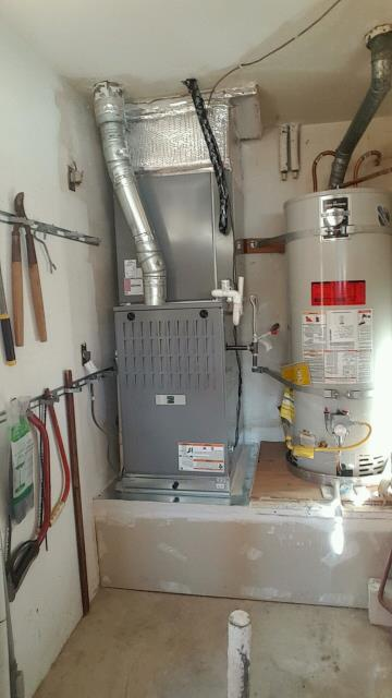 Moorpark, CA - Replaced a gas furnace in the city of Moorpark, CA.