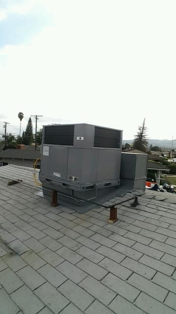West Covina, CA - Replaced a Full Package unit on rooftop in the city of West Covina, CA.