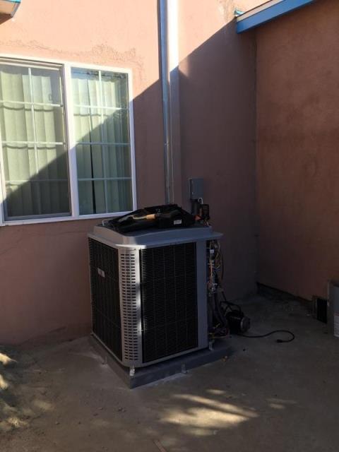 Whittier, CA - Installed a condenser, coil, and the furnace in the city of Whittier, CA.