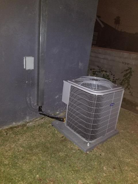 Whittier, CA - Replaced a condenser, coil, and a furnace in the city of Whittier, CA.