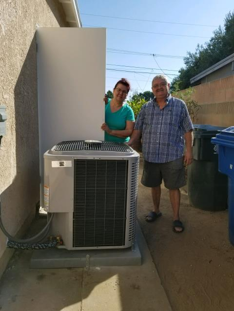 La Puente, CA - Replaced the condenser, coil, and furnace in the Satisfied Corral home located in the city of La Puente, CA.