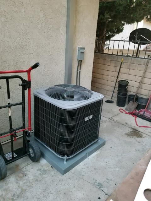 Diamond Bar, CA - Replaced a condenser, coil, and a furnace in the city of Diamond Bar, CA.