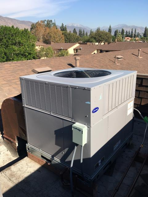 Azusa, CA - Replaced a full package unit in the city of Azusa, CA.