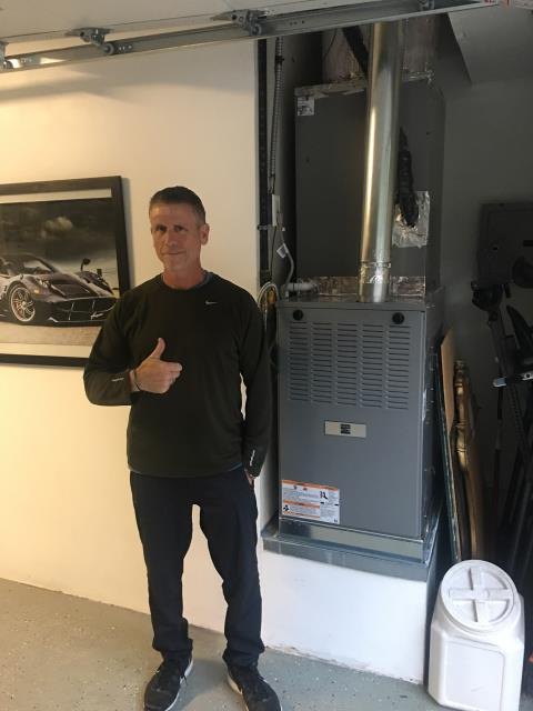 Rolling Hills Estates, CA - Replaced a gas furnace in the Satisfied home of the Sommersteins located in the city of Palos Verdes Peninsula, CA.