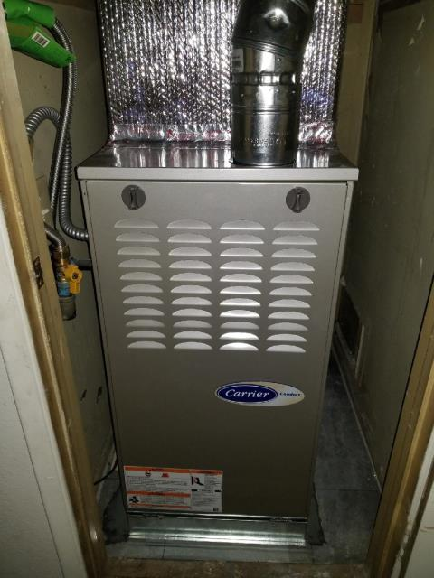 Carson, CA - Replaced a gas furnace in the city of Carson, CA.