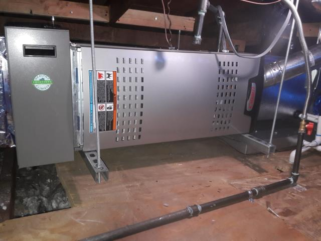 Torrance, CA - Replaced a furnace in the attic, along with all the duct work in the city of Torrance, CA.