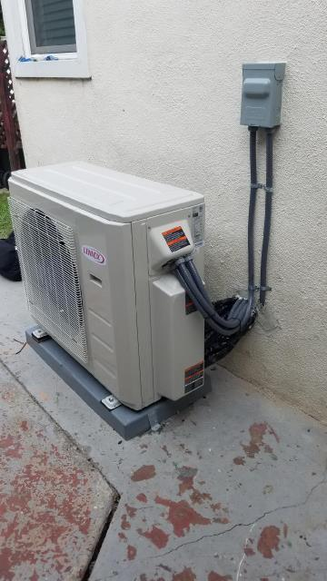 Los Angeles, CA - We installed a Mini Split System with to air handler heads in the city of Los Angeles, CA.
