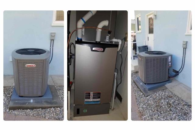 Rancho Palos Verdes, CA - Installation of a Lennox Condenser and Furnace for the Osborne family in South Redondo
