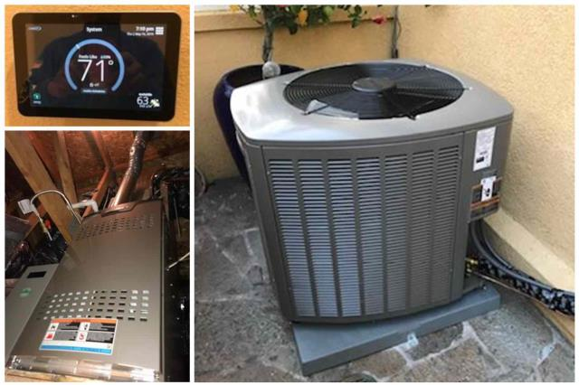 Redondo Beach, CA - Installation of a condenser, furnace and digital thermostat for a wonderful family located in South Redondo, Ca