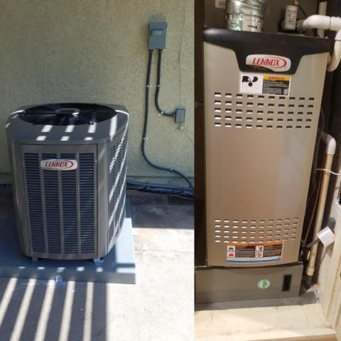 Santa Clarita, CA - Replaced a condencer, coil, and a gas furnace in the city of Santa Clarita, CA.