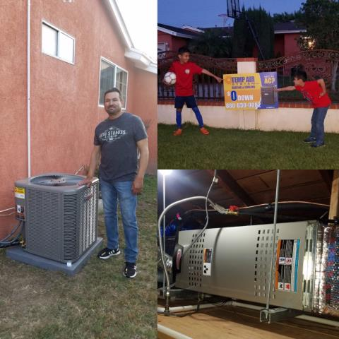 La Puente, CA - Installed a new Condenser, coil, and furnace in the satisfied Becerra Home located in the city of La Puente, CA.