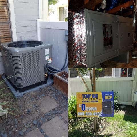 Azusa, CA - We replaced a condenser, coil, and furnace in the city of Azusa, CA.