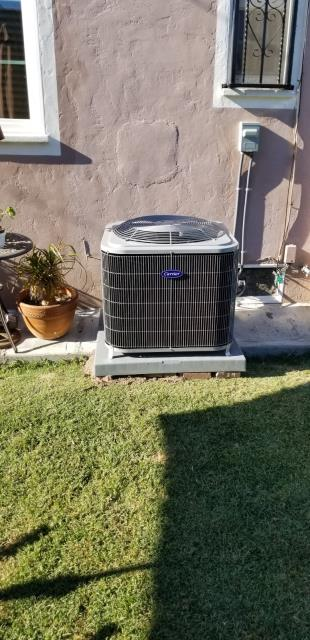 Huntington Park, CA - We replaced a condenser, coil, and furnace in the city of Huntington Park, CA.
