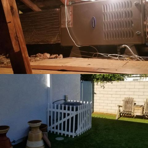 Long Beach, CA - We replaced a condenser, coil, and furnace in the city of Long Beach, CA.
