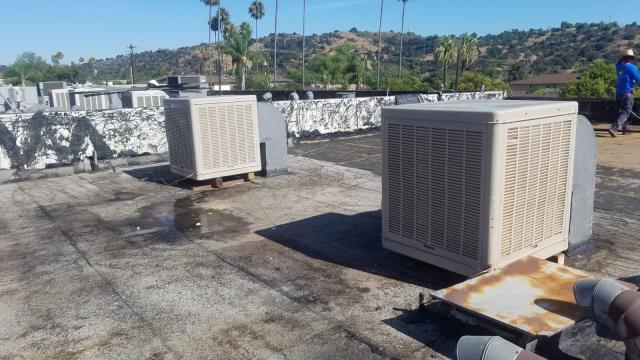 Glendora, CA - Installation of 2 swamp coolers for a Lounderland located in the city of Glendora