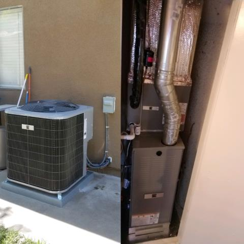 Azusa, CA - Replaced a condenser,coil, and furnace in the city of Azusa, CA.
