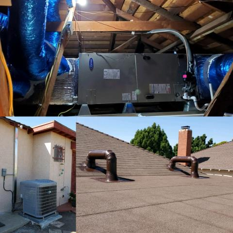 Los Angeles, CA - Installed a new condenser, coil, and furnace along with ducts in the city of Los Angeles, CA.