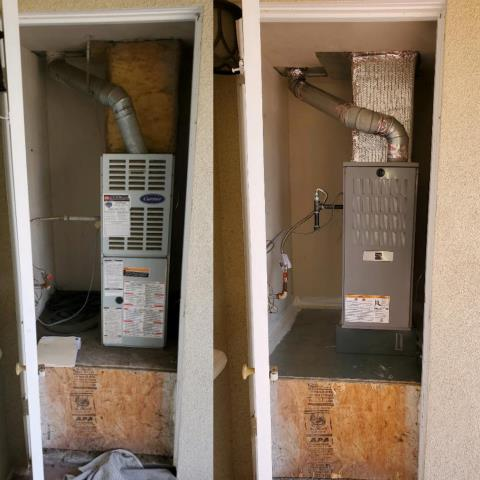 Los Angeles, CA - Replaced a furnace in the city of Los Angeles, CA.