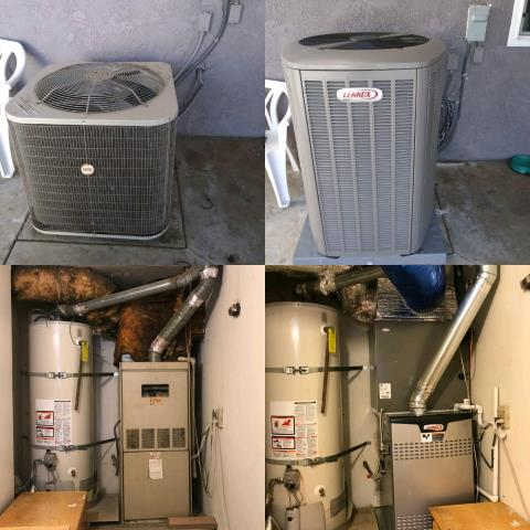 Los Angeles, CA - Replaced a condenser, coil, and furnace in the city of Sylmar, CA.